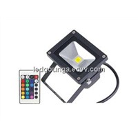 10 Watt RGB Black Outood LED Flood Lighting