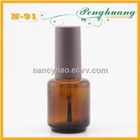 18ml amber nail polish glass bottle