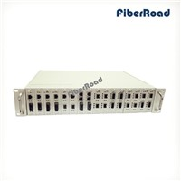 19 inch Managed Media Converter Chasis with 16 Slots Rack Mount