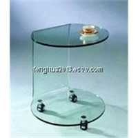 2013 Bent Glass Side Table Console Table for Glass Furniture
