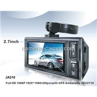 2.7inch full HD 1080P car DVR with GPS  and G-senor,Parking Mode