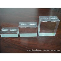 3sets Acrylic Ring Holder Countertop PMMA Finger Ring Display Stand