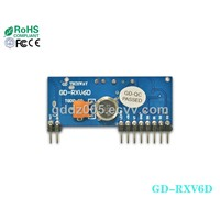433 Mhz RF Products -ASK Wireless Receiver Module GD-RXV6D2