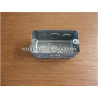 "4""x2"" Electrical Galvanized Iron Box/Wall Switch Box"
