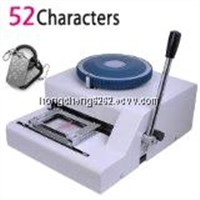 52 charaters Manual Military GI Metal Dog Tag Embosser Stainless Steel Embossing Machine