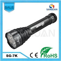 8000 Lumen Rechargeable Police LED Flashlight With Extension Tube SG-7K