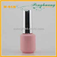 8ml pink glass nail polish bottle
