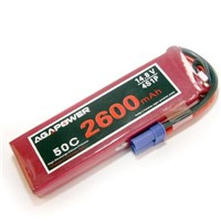 AGA Power lipo battery pack 2600mah 50C 14.8V 4cells