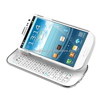 BEST SELLER!Sliding & Standing Detachable BT Keyboard Case for Galaxy S3(KRSK04-S3)