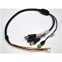 CCTV Cable Assemblies with BNC , DC,PH2.5, PH3.81