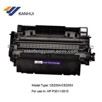 CE255A black toner cartridge for HP 3011/3015