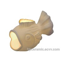 Ceramic Glowing Fish Candle Holder