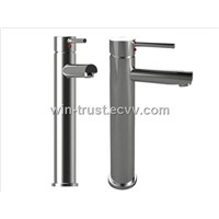 Chrome Brass Basin Faucet with Heating Function/ Chrome Finish Basin Faucets