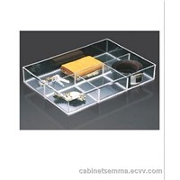 Clear Acryli 4-Compartment Tray Jewelry Accessory Tray