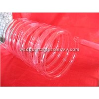 Clear quartz helical tube