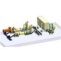 Complete product line with wood pellet mill