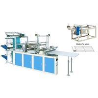 Computer Heat sealing Cold Cutting Bag making Machine(double deck, two unwinding station)