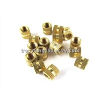 Brass Straight Knurled Insert Nuts/Round Slotted Brass Nuts/