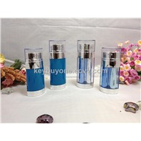 Cosmetic Airless Bottle With Two Tube
