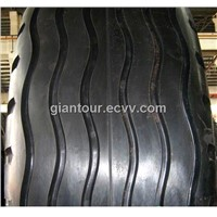 E7 sand mining oil rig mover trailer tire tyre