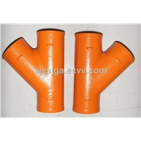 EN877 epoxy resin cast iron pipe fittings