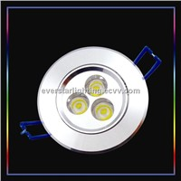 ESCE-3A LED Light/ Round Recessed Glare proof LED Ceiling Light 3W