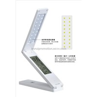 Eye-protection folding touch LED table lamp with calendar alarm