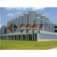 Fermentation tanks for large brewery