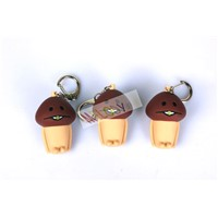 Funghi Garden Kit Shaped LED Sound Key Chain