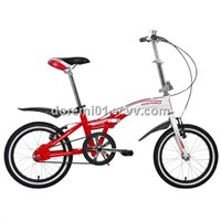 GA-034, 16'' folding bike, Hi-ten steel frame, alloy V brake, alloy rim