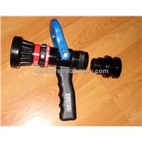 Gallon age fire hose nozzle