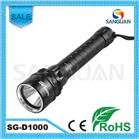 Global Popular High Power LED 1000lm Diving Flashlight