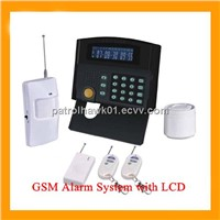 HOT SALE!!! Wireless auto dial home security alarm system with LCD display -G50B)