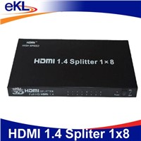 High Speed  8 port hdmi splitter 3d 1080P with 1920*1200 resolution