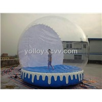 Outdoor Christmas Decoration Human Inflatable Snow Globe