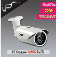 IPS-EO1311 Newest 1megapixel IP Bullet Camera support P2P ONVIF
