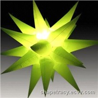 Inflatable lighting star for decorations