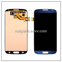 LCD display screen for Samsung Galaxy s4 i9500, with touch glass digitizer assembly, blue