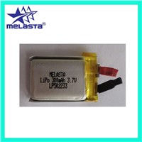 Li-ion Polymer Battery LP502233 3.7V 300mAh with tab