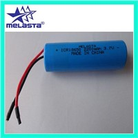 Lithium Ion Rechargeable Battery pack 3.7V 2200mAh (ICR18650-1S1P)