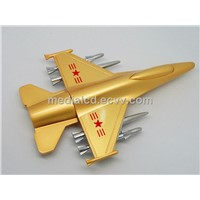 Metal Gold Metalplane Shape USB Flash Memory Drive