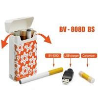 Mini Electronic Ecigarette 808d Plastic Box Package Black