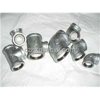 NPT Galvanized Cast Iron Pipe Fitting Malleable Elbow