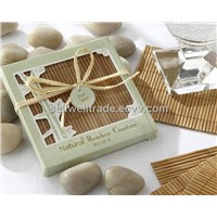 Natural Bamboo Eco-Friendly Coaster Favours (Four Coasters per Favor!)