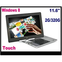 New Win8 tablet pc Windows 8 laptop computer 1037U dual core CPU 2GB RAM 320G HDD