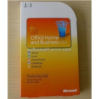 Office Home and Business 2010 Product Key Card PKC Box Package