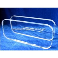 Optical clear quartz glass plate high tempreture resistant