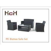 PE Rattan Outdoor 4 PCS Sofa Set, Garden Furniture Set, Patio Sofa Set