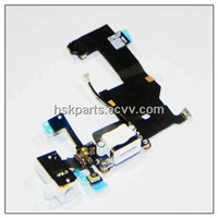 Phone dock connector charging flex assembly replacement for iphone 5