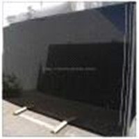 Polished black granite tile